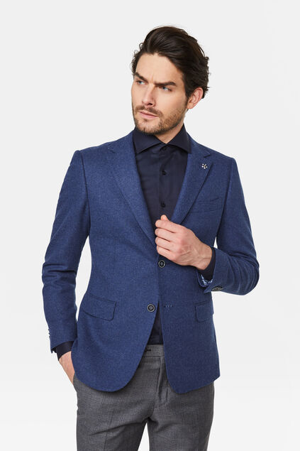 Heren slim fit blazer Nuoro Marineblauw