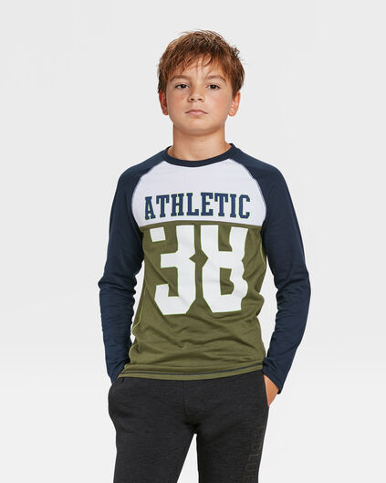 JONGENS ATHLETIC PRINT T-SHIRT Legergroen