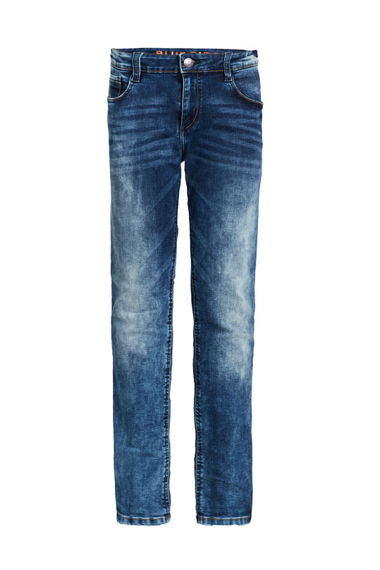Jongens regular fit jeans met jog denim Donkerblauw