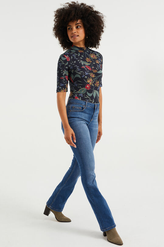 Dames mid rise flared jeans Blauw
