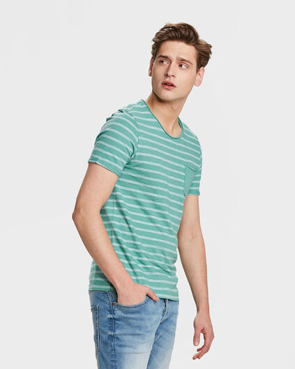HEREN STRIPE T-SHIRT Mintgroen