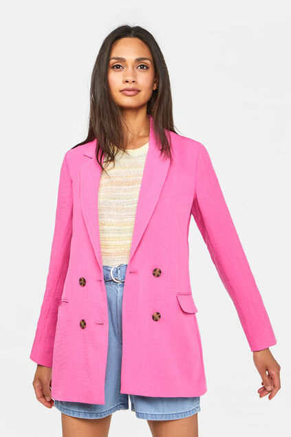 Dames double breasted blazer Roze