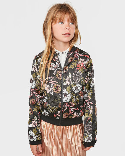 MEISJES FLOWER BOMBER JACKET All-over print