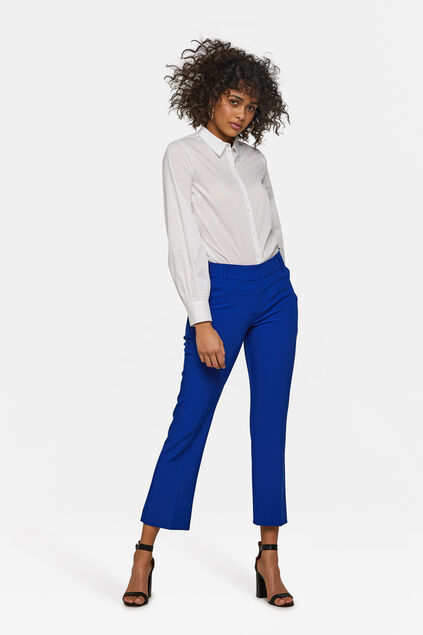 Dames slim fit pantalon Kobaltblauw