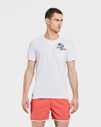 HEREN SUMMER BEACH VIBES PRINT T-SHIRT Wit