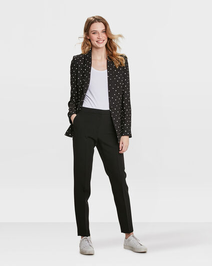 DAMES SLIM FIT DOT BLAZER Zwart