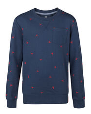 JONGENS SPACE PRINT SWEATER_JONGENS SPACE PRINT SWEATER, Marineblauw