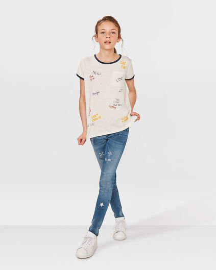 MEISJE COLOR TEXT T-SHIRT Gebroken wit