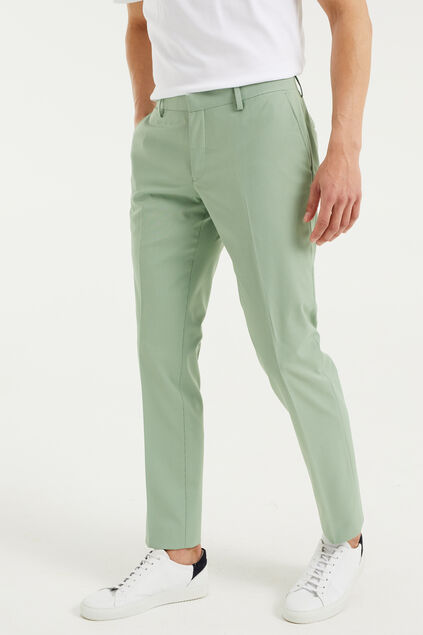 Heren slim fit pantalon van gerecycled materiaal Dali Groen