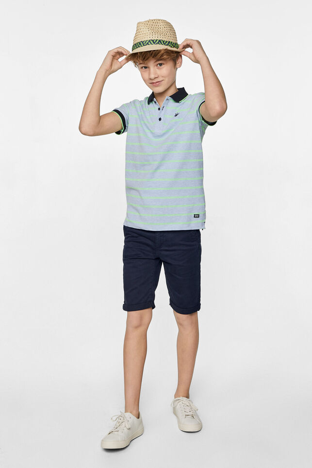 Jongens slim fit chino short Donkerblauw