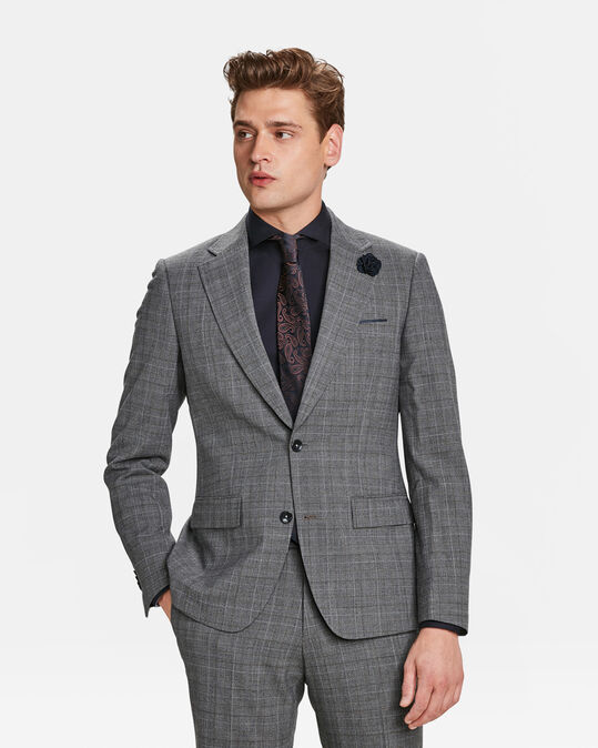 HEREN SLIM FIT BLAZER CARLOW Grijs