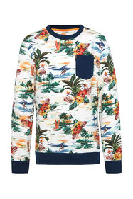 Jongens sweater met bladerenprint_Jongens sweater met bladerenprint, All-over print