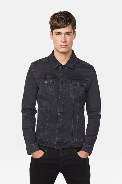 Heren denim jacket Zwart