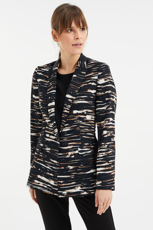Dames regular fit blazer met dessin Multikleur