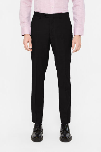 Heren slim fit pantalon Zwart