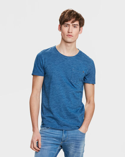 HEREN BLUE RIDGE INDIGO T-SHIRT Blauw