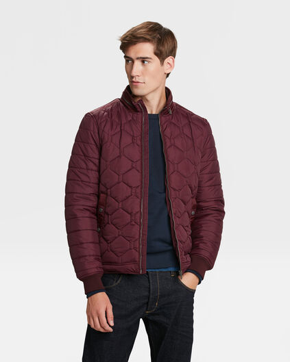 HEREN LIGHTWEIGHT QUILTED JACKET Aubergine
