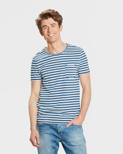 HEREN R-NECK BLUE RIDGE INDIGO STRIPE T-SHIRT Indigo