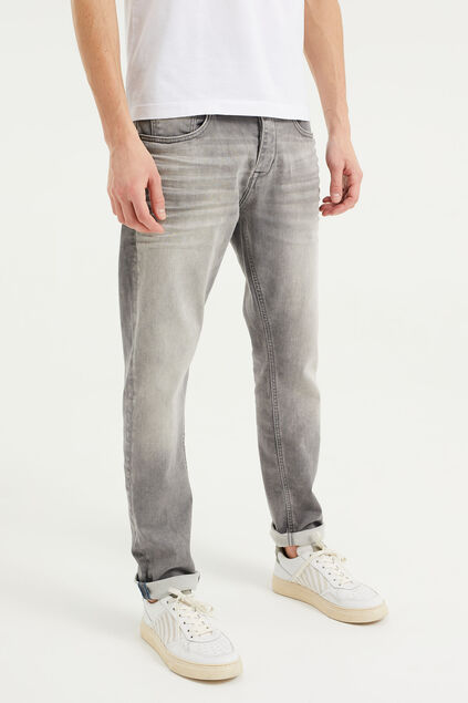 Heren athletic fit jeans van jog denim Lichtgrijs