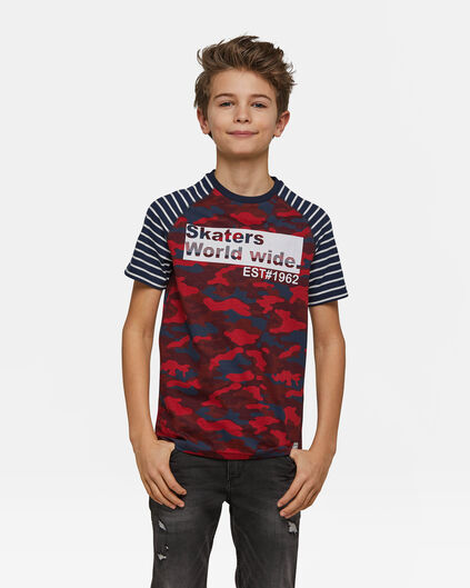 Jongens skaterprint T-shirt Rood