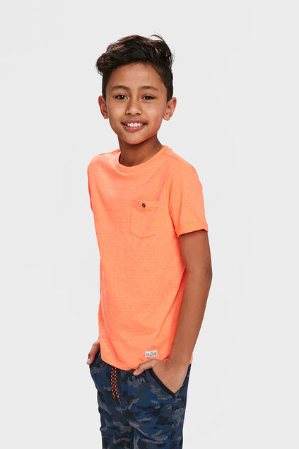 Jongens ONE POCKET T-SHIRT Oranje