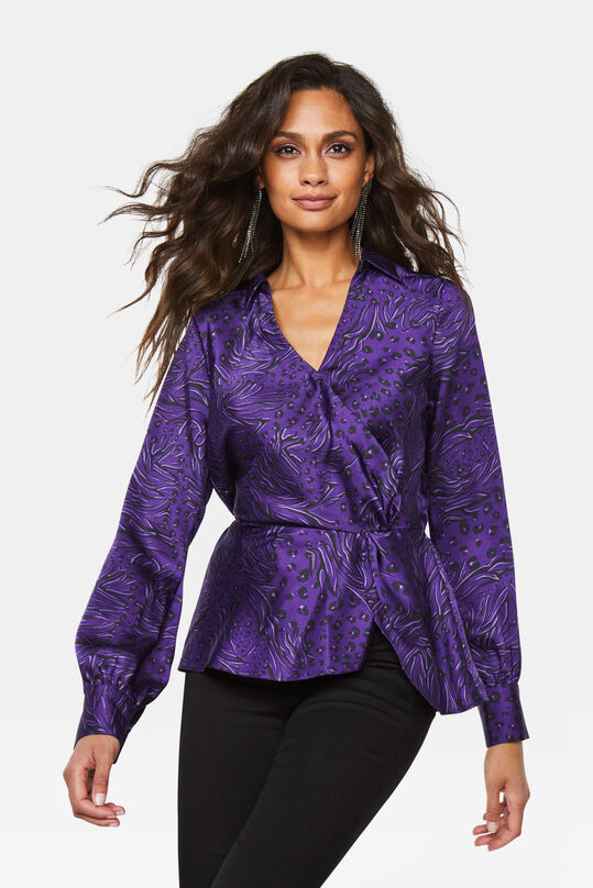 Dames dessin blouse Paars