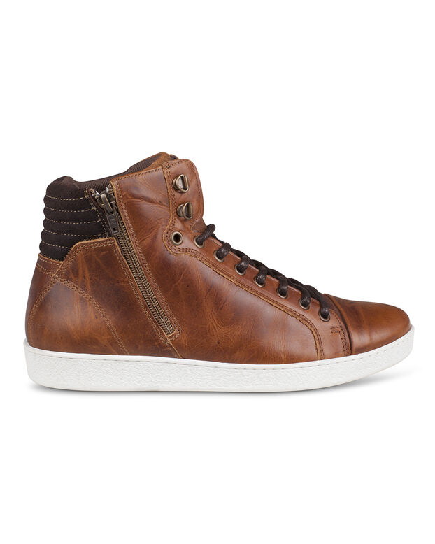 HEREN REAL LEATHER ENKELBOOTS Cognac