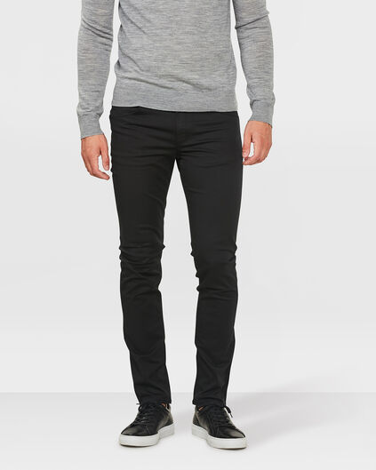 HEREN SKINNY TAPERED SUPER STRETCH BROEK Zwart