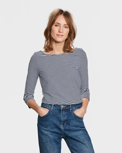 DAMES STRIPED SHIRT Blauw