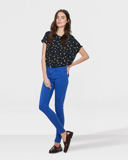 DAMES HIGH RISE SKINNY HIGH STRETCH BROEK Blauw