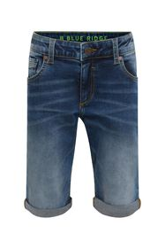 Jongens regular fit denimshort_Jongens regular fit denimshort, Blauw