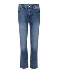 DAMES HIGH RISE STRAIGHT COMFORT STRETCH JEANS_DAMES HIGH RISE STRAIGHT COMFORT STRETCH JEANS, Blauw