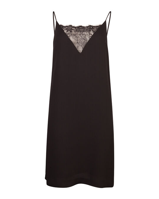 WE X NINA DAMES A-LINE SLIP DRESS Zwart