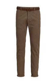 Heren Oxford chino met stretch_Heren Oxford chino met stretch, Bruin