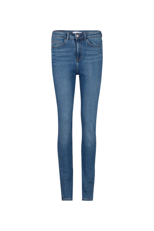 Dames high rise skinny jeans Marineblauw