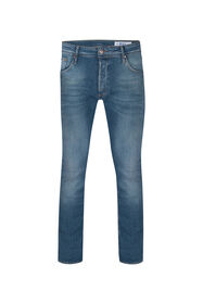 Heren skinny tapered super stretch jeans_Heren skinny tapered super stretch jeans, Blauw