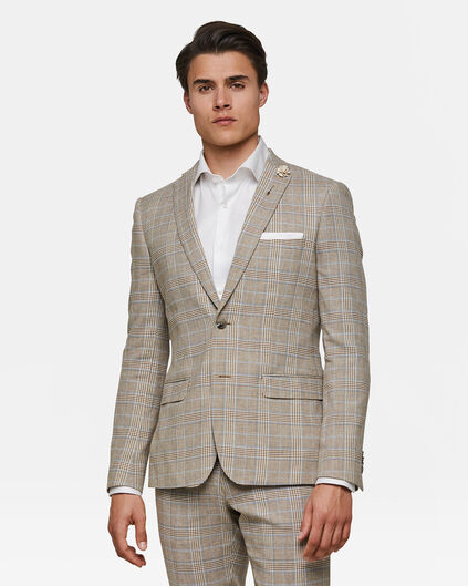 Heren slim fit blazer Paulo Beige