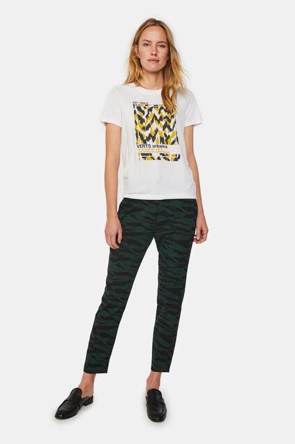 Dames slim fit pantalon met dessin All-over print