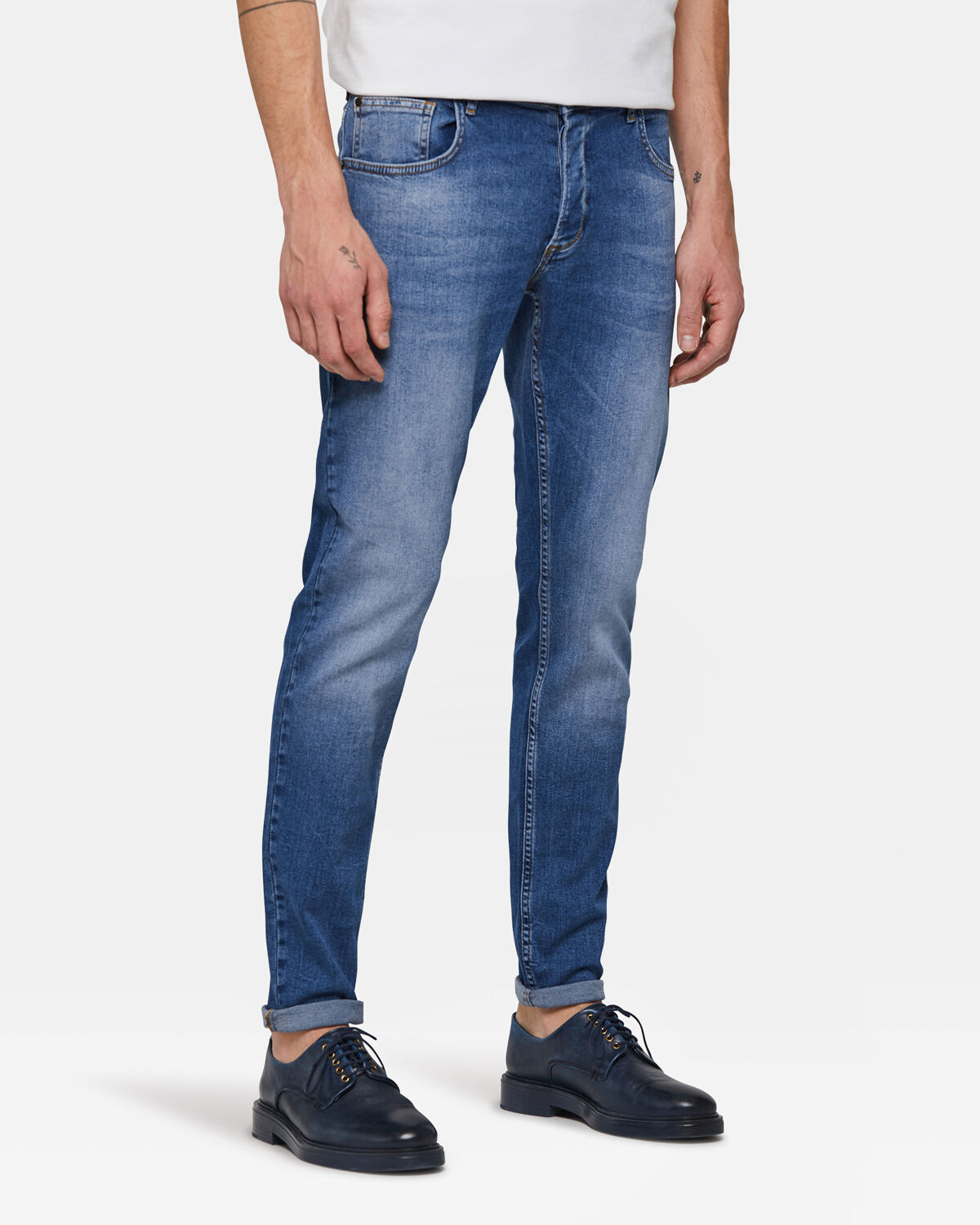 Heren skinny fit comfort stretch jeans | 94704792 WE Fashion
