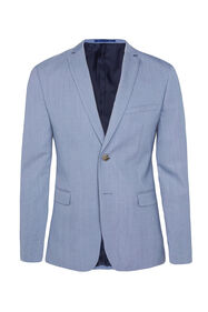 Heren slim fit blazer Dali met stretch_Heren slim fit blazer Dali met stretch, IJsblauw
