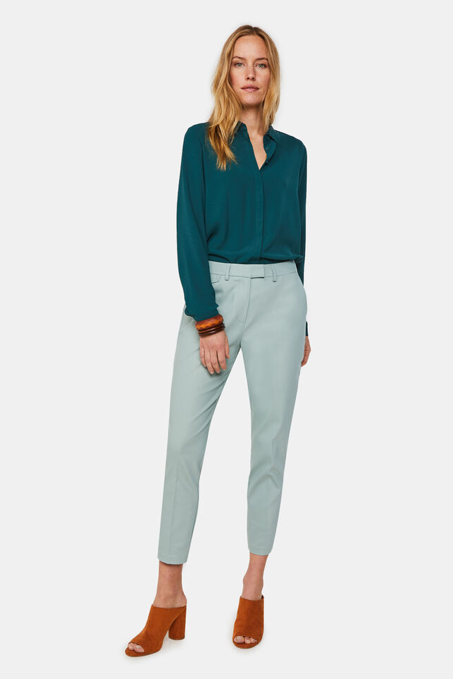 Dames slim fit pantalon Mintgroen