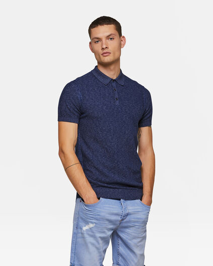 Heren polo Marineblauw