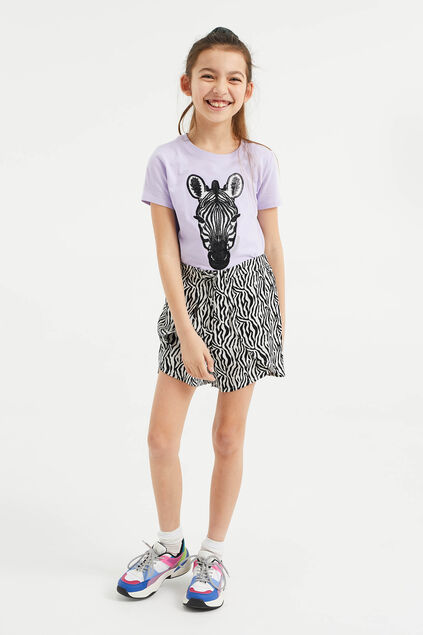 Meisjes short met zebradessin All-over print