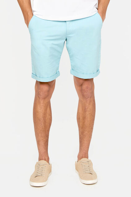 Heren slim fit chinoshort Lichtgroen