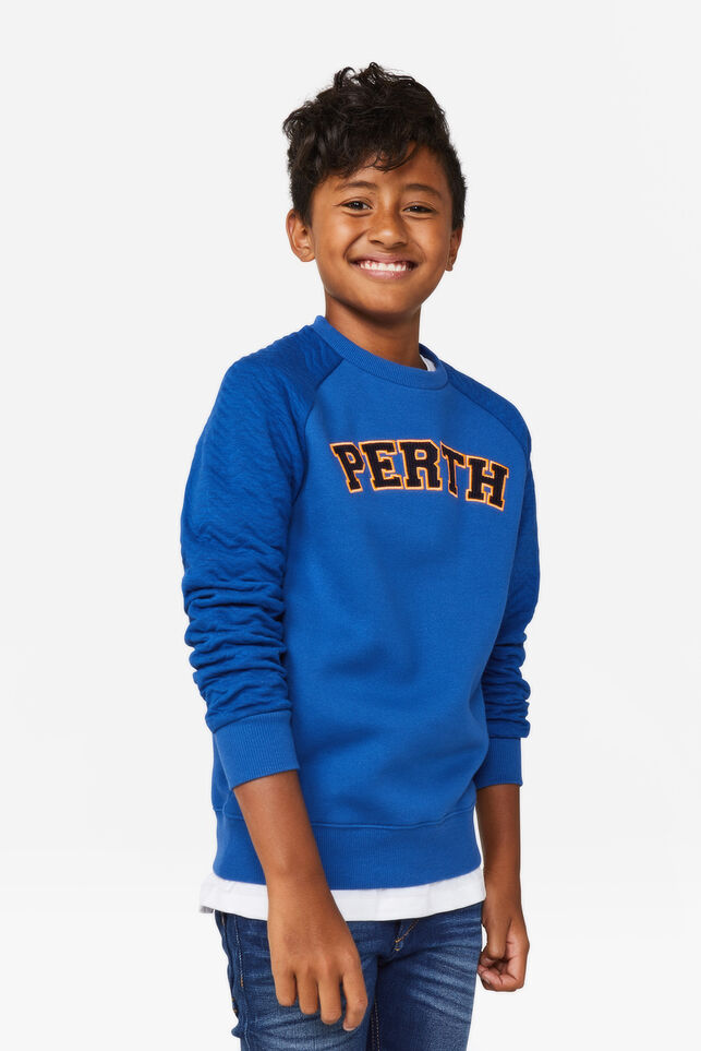 Jongens perth sweater Felblauw