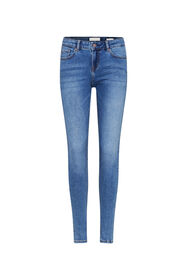 Dames mid rise super skinny jeans_Dames mid rise super skinny jeans, Blauw