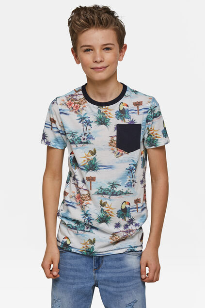 Jongens toucan T-shirt Wit