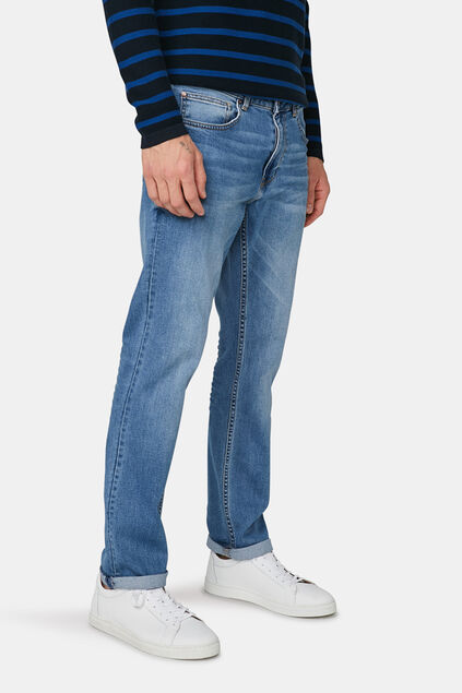 Heren regular straight comfort stretch jeans Lichtblauw