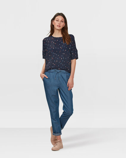 DAMES MID RISE RELAXED DENIM JOGGER Blauw
