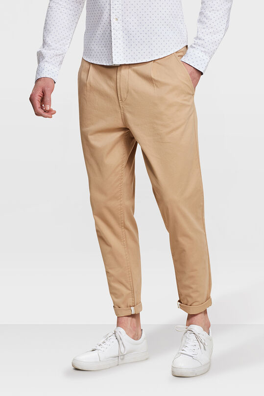 HEREN LOOSE FIT PLEAT CROPPED CHINO Caramel